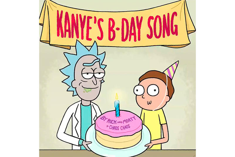 Rick and Morty Kanye West Happy Birthday Song ye kids see ghosts adult swim Kim Kardashian