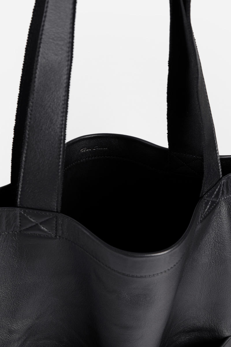 Rick Owens Fall Winter 2018 Leather Tote Bag black accessories
