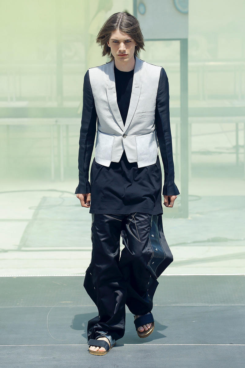 Rick Owens spring summer 2019 runway collection paris fashion week birkenstock collaboration tent sneaker mens