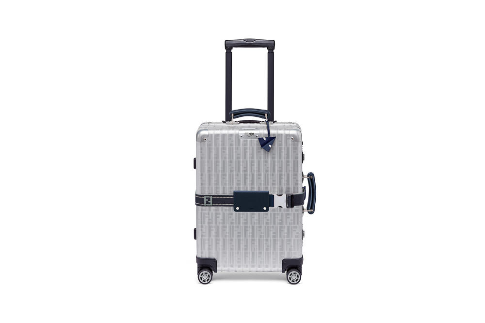 Fendi RIMOWA Suitcase Cabin Trolley First Look Release Information Details Red Silver Blue Tag Personalization