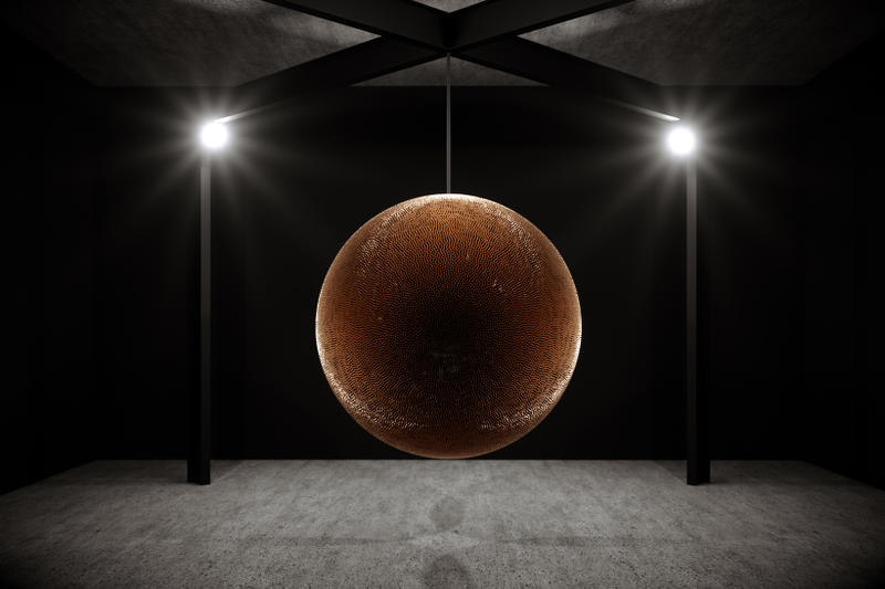 robert longo death star art basel unlimited sculpture artwork installation