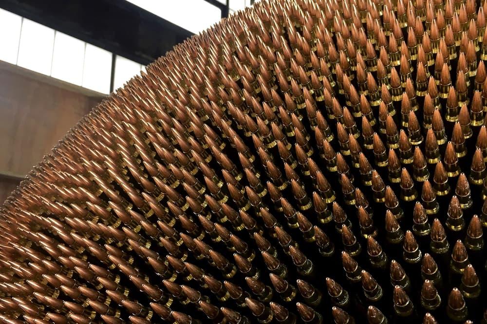 robert longo death star art basel unlimited sculpture artwork installation