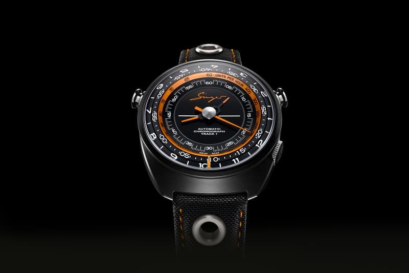 Singer Reimagined Track 1 chronograph Hong Kong black ceramic watch track1