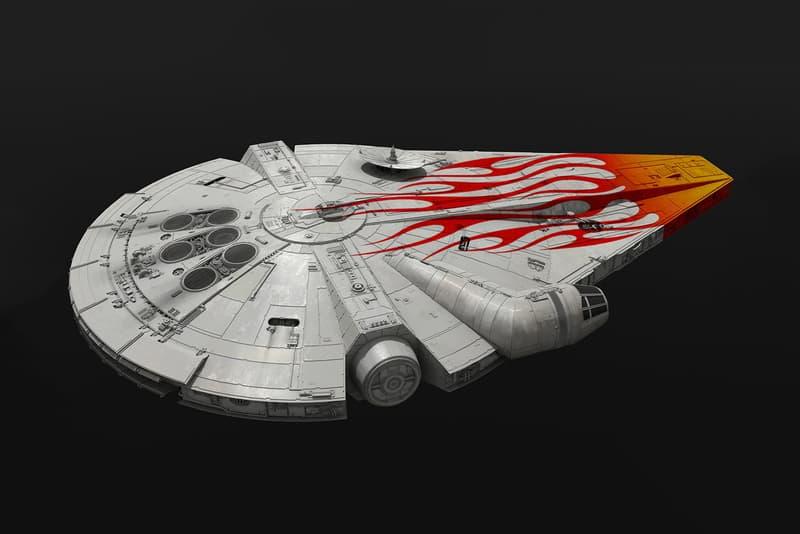 Solo Star Wars Millennium Falcon Flame Decal design