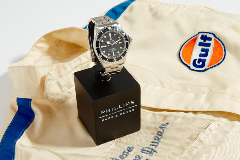 Steve McQueen 1964 Rolex Submariner 5513 Auction Phillips new york october 25 2018 timepiece watch loren janes stuntman gift The Boys Republic charity profits 300,000 600,000 estimate