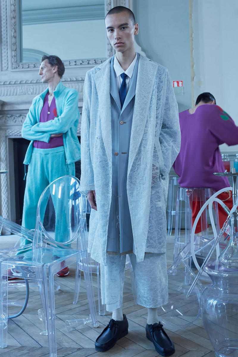 Sulvam spring summer 2019 paris fashion week collection lookbook mens genderless teppei fujita japan