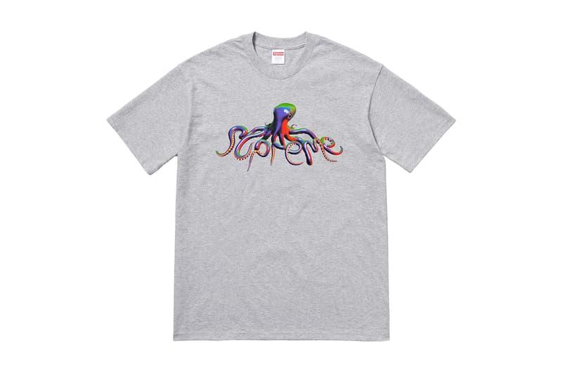 Supreme Summer 2018 T-Shirt Tee Grey Octopus