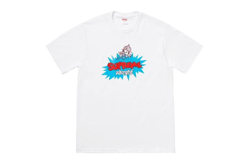 Supreme Summer 2018 T-Shirt Tee White Ganesha Elephant God India