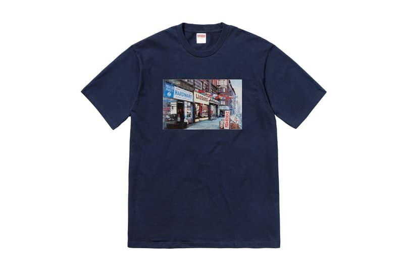 Supreme Summer 2018 T-Shirt Tee Navy Storefront Liquor Hardware