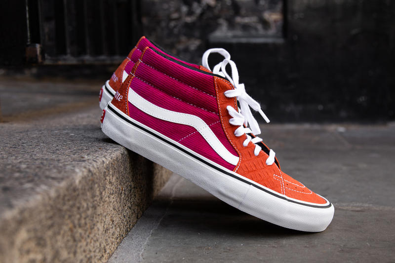 f1b2cb3df178 Supreme Vans Collab Collaboration Lampin Sk8-Mid Spring 2018 Collection  Footwear Skateboarding New York Vans