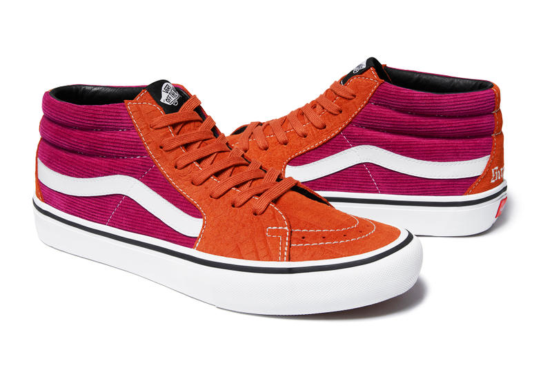 Lampin Sk8-Mid Supreme Vans Spring 2018 Collection footwear skateboarding New York Vans Old Skool Waffle Shoe Trainer Collaboration Collab