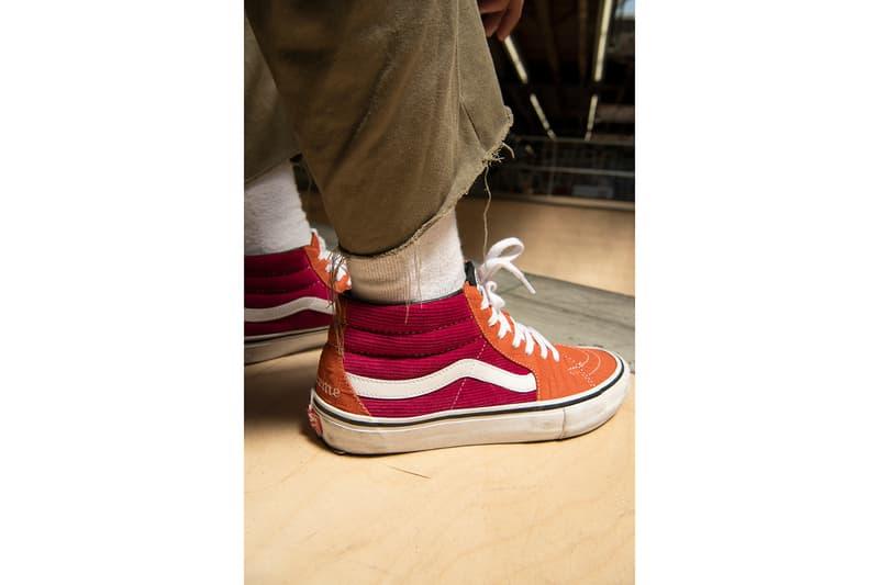018ab29dd3 Lampin Sk8-Mid Supreme Vans Spring 2018 Collection footwear skateboarding  New York Vans Old Skool
