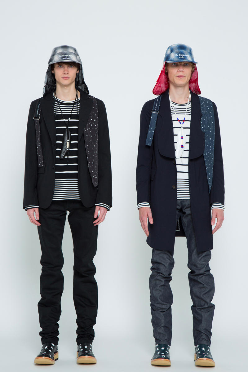 TAKAHIROMIYASHITA TheSoloist Spring summer 2019 Collection Paris Fashion Week summer slip on sneaker collaboration artwork photographs grunge Charles Peterson scarf cap hat jacket scarf grunge touch me im sick