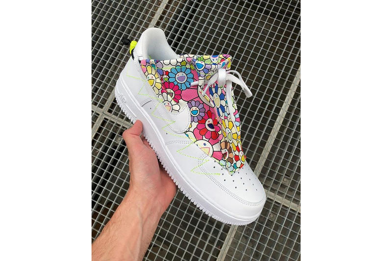 takashi murakami studio hagel nike air force 1 custom paris fashion week mens footwear virgil abloh off white