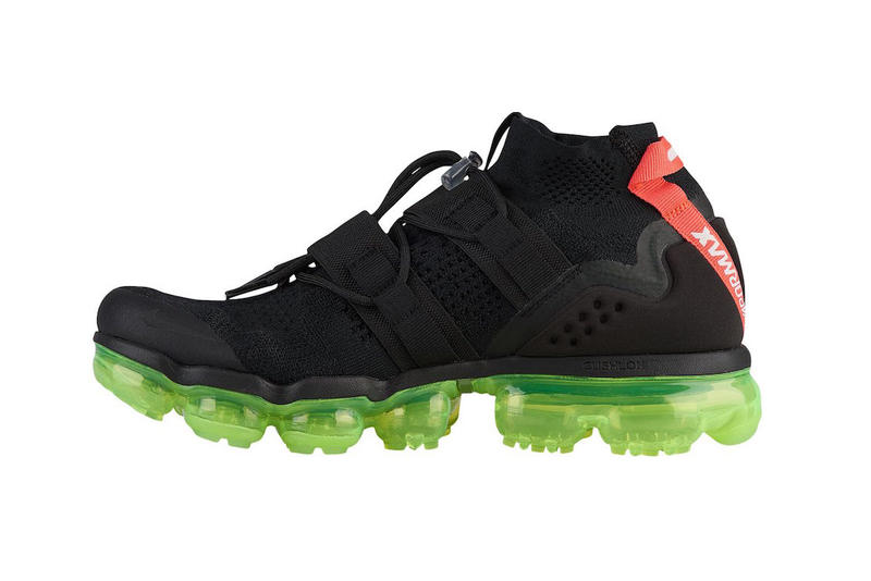 55f151b31c1 Nike Air Vapormax Flyknit Utility Black Volt Neon Green Red Black