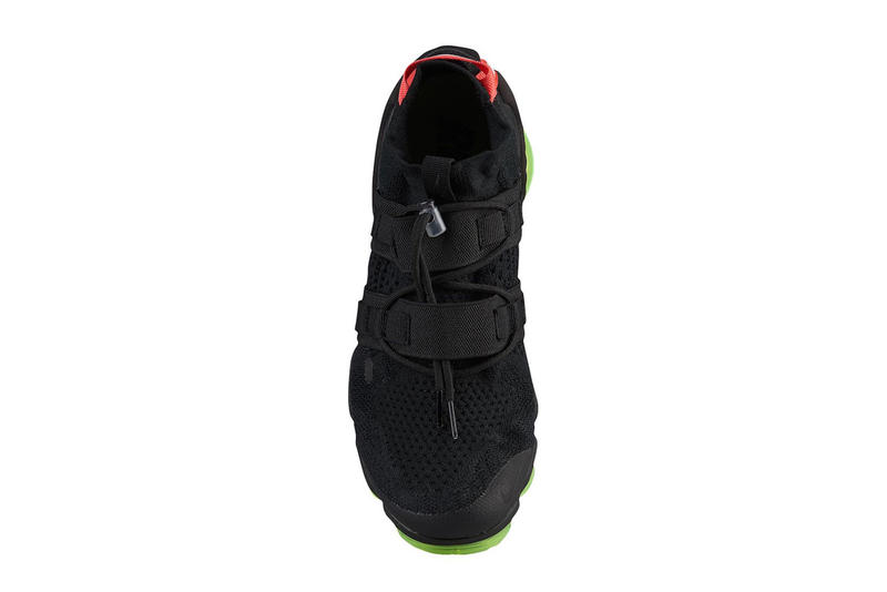 Nike Air Vapormax Flyknit Utility Black Volt Neon Green Red Black