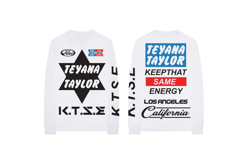 Teyana Taylor ktse keep the same energy merch music fashion 2018 june