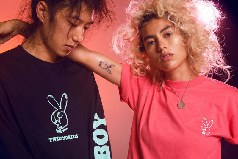 The Hundreds playboy Collection streetwear release date hoodie t shirt