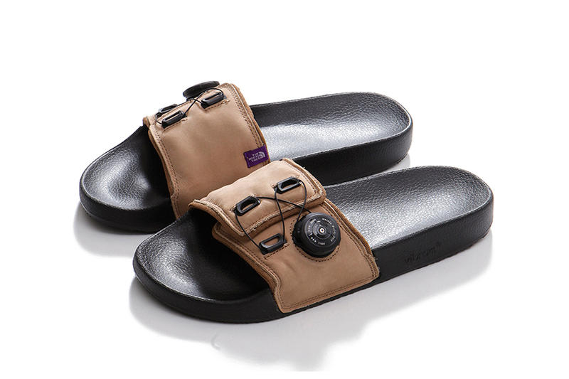THE NORTH FACE PURPLE LABEL Leather Sandals black brown ATOP SYSTEM nanamica