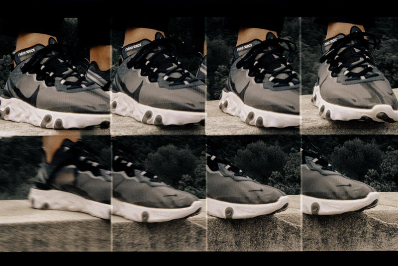 theNextdoor Nike React Element 87 Editorial Black Sail White
