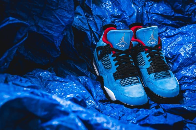 Travis Scott Air Jordan 4 cactus jack 2018 june footwear jordan brand michael jordan houston oilers la flame university blue black