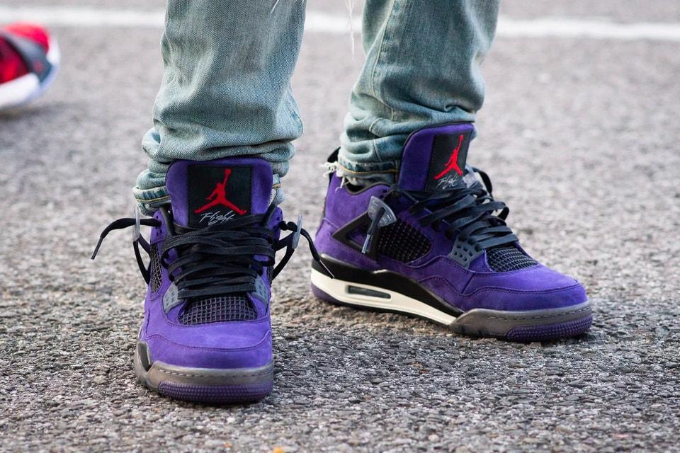 "pretty nice baf05 e8ebe Travis Scott x Air Jordan 4 ""Purple"" Better Look | HYPEBEAST"