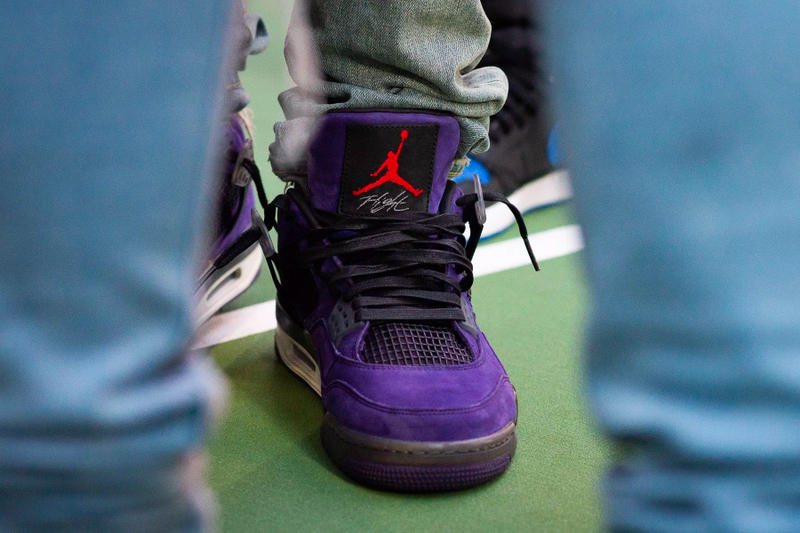 "pretty nice 2c9f3 29319 Travis Scott x Air Jordan 4 ""Purple"" Better Look 