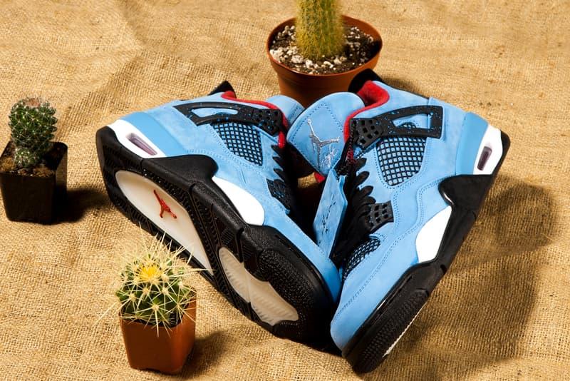 Travis Scott Nike Air Jordan 4 Cactus Jack Release Date Info Drops June 9 2018 University Blue Livestock Canada 308497 406