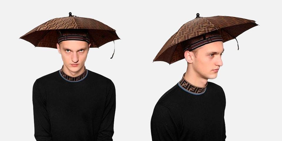 Conquer the Rain in Style With Fendi s Headband Umbrella fae68f20f85