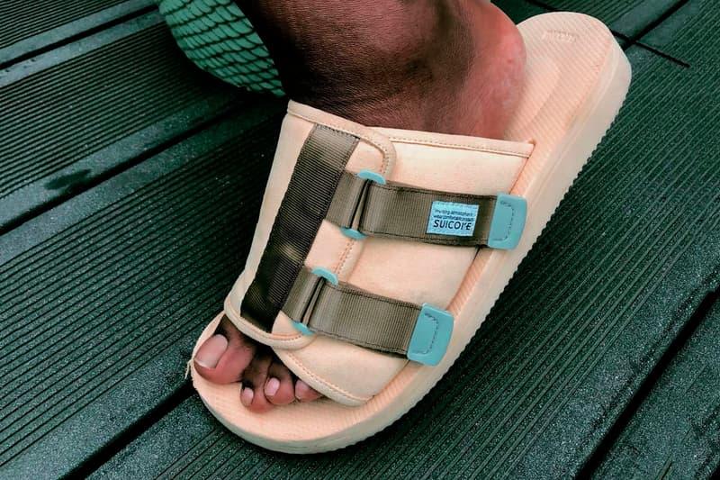 7c362e819e5b Tyler The Creator Golf Wang Suicoke Sandal closer look peach military green  straps slam jam socialism
