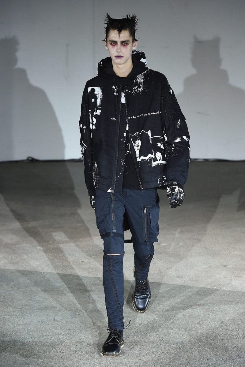 UNDERCOVER Spring Summer 2019 Collection Runway Jun Takahashi Nike Leather Jacket Dr Martens Riot Punk Gangs The New warriors
