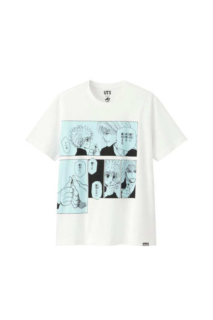 uniqlo shonen jump ut collaboration tee shirts white hunter x hunter