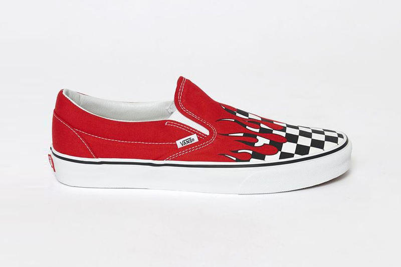 "Vans Slip-On ""Checkerboard Flames"""