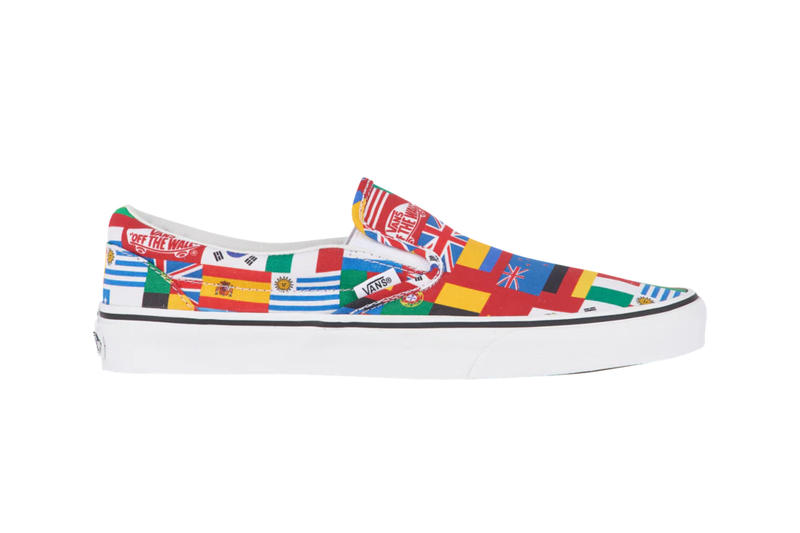 b1ebe8b301 Vans Slip-On International Flags release info sneaker footwear country  skateboarding