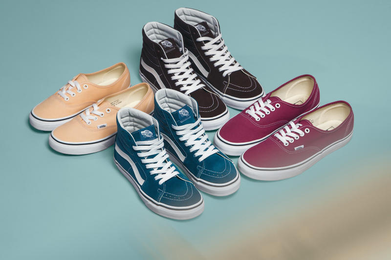 Vans Era Old Skool Sk8-Hi Authentic Classic Slip On Apparel Black White Pink Bleached Peach Rose Corsair Blue Release Details Color Theory