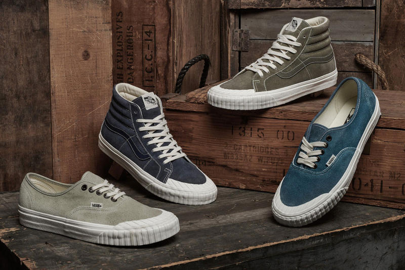 1561bf02302 Bringing select styles back from the dead. vans vintage military pack sk8  hi authentic sneaker corsair wheat cornstalk
