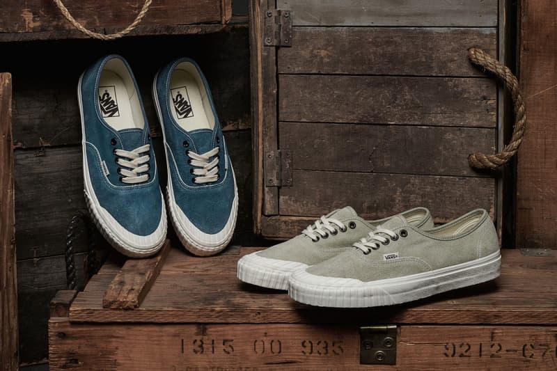 92fab881ca1106 vans vintage military pack sk8 hi authentic sneaker corsair wheat beige  blue chambray