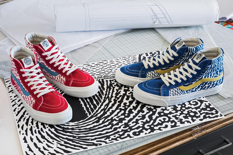 Vault by Vans John Van Hamersveld 2018 spring summer collaboration collection classic OG Sk8 Hi LX Classic Slip On LX