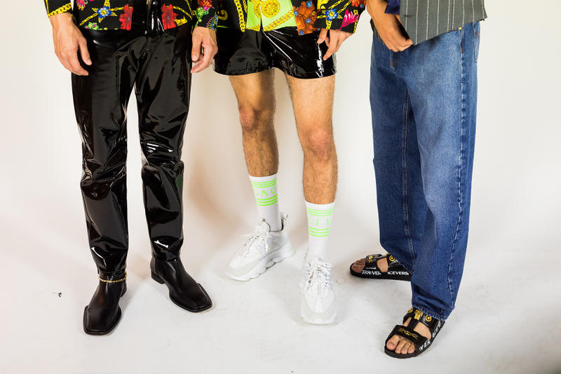 Versace Spring Summer 2019 Collection Backstage menswear footwear milan fashion week
