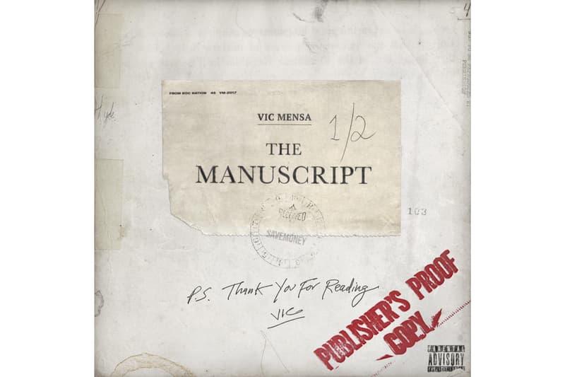 Vic Mensa Manuscript 2017