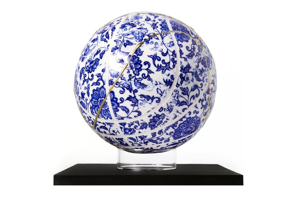 victor solomon moonshot porcelain basketball literally balling art artwork sculpture