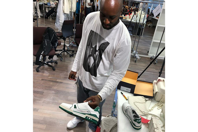 virgil abloh don c louis vuitton footwear 2018 fashion white green off white