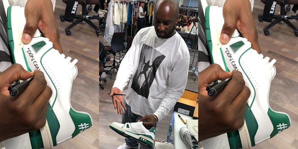 56fbcdfa3f5f Virgil Abloh s Louis Vuitton Low Sneakers for Don C