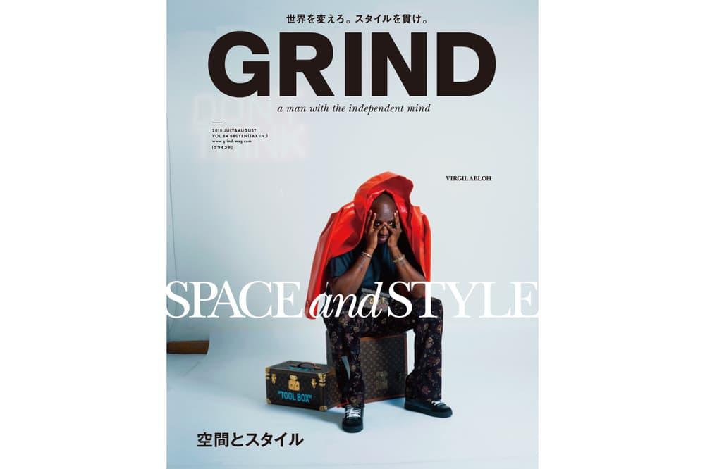 Virgil Abloh GRIND Magazine Volume 84 august 2018 louis vuitton helmut lang record box takuya chiba Cover