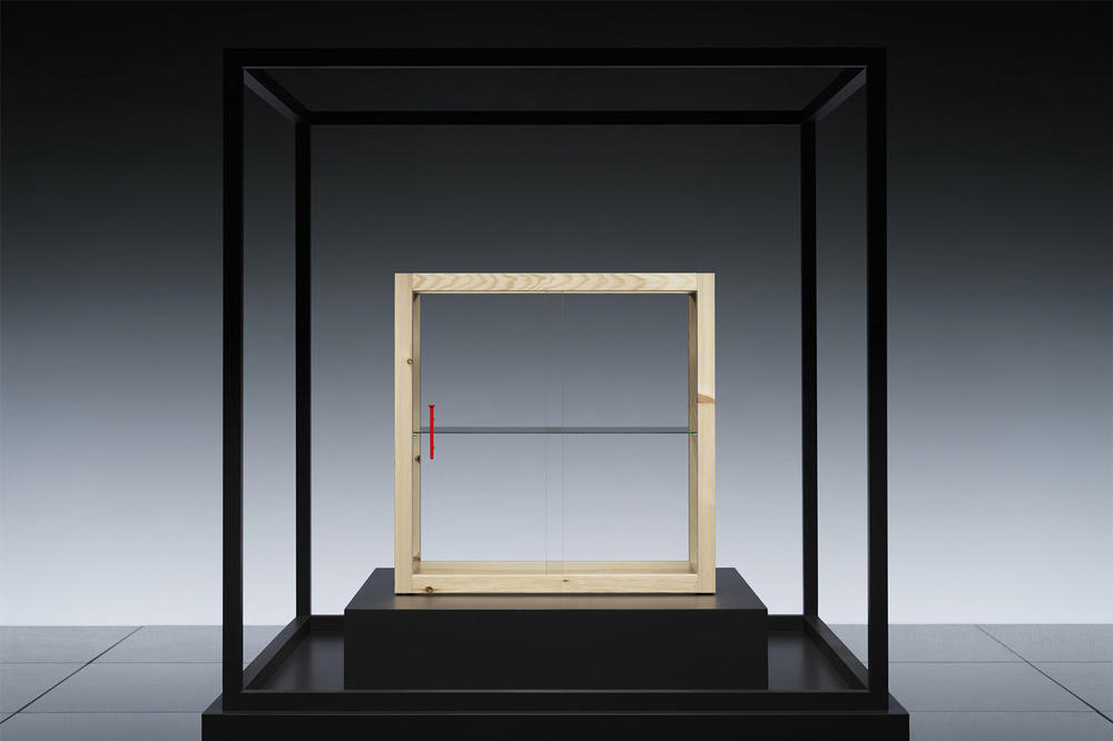 virgil abloh ikea markerad collection 2019 glass cabinet
