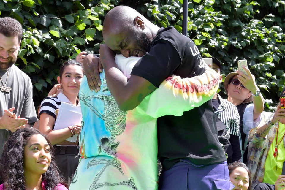 3027c0cee208 Virgil Abloh on Emotional Kanye West Hug at PFW