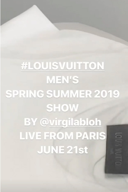 Virgil Abloh Teases Third Louis Vuitton Visit studio june 5 2018 atelier business card