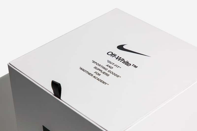 Virgil Abloh x Nike Match Ball Football Box Text Hypebeast Closer Look