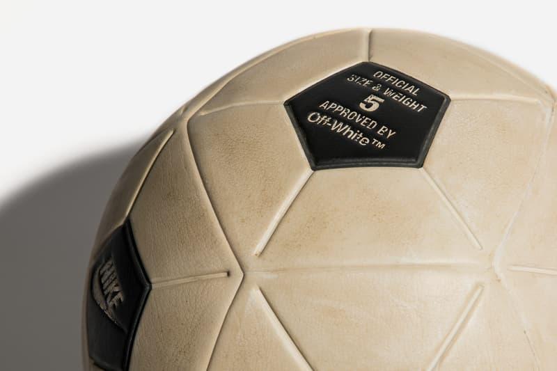 Virgil Abloh x Nike Match Ball Football Ball Text Hypebeast Closer Look