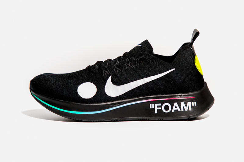 6df00d319cb6 Virgil Abloh x Nike Zoom Fly Mercurial Flyknit Black Lateral Side